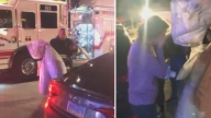 Bomberos al rescate: rompe en llanto tras salvarse su vestido de novia