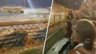 Rociados con aceite: bus escolar choca a centímetros de espectadores