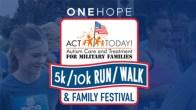 ¡ACTÚE HOY! Para familias militares 5K / 10K Walk / Run