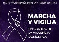 Marcha y vigilia contra la violencia doméstica