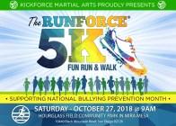 Runforce 5k Corre / camina contra la intimidación