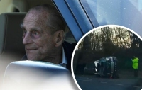 El esposo de la reina Isabel salió ileso de una coalición, aunque las pasajeras del otro vehículo  involucrado no tuvieron la misma suerte....