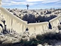 Fotos de la helada en el Lago Michigan que parecen de una peli de ciencia ficción.