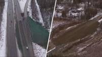 Así se ven varias autopistas en Anchorage, Alaska, una semana después del terremoto de 7.0. Autoridades aconsejan a conductores estar pendiente de...