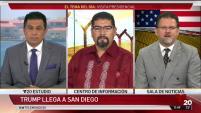El político republicano Héctor Gastélum y el activista Benjamín Prado opinan sobre la visita presidencial desde los estudios de Telemundo 20.