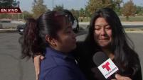 'Jamás imaginamos que esto iba a pasar y estaba muy intranquila', dijo la mujer tras abrazar a su hija.