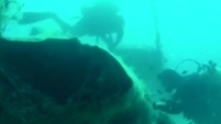 Pescadores hallaron los restos del avión que fue utilizado en la Segunda Guerra Mundial.