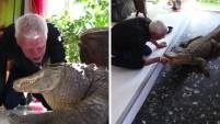 Philippe Gillet posee una colección de 400 reptiles que mantiene como mascotas en su casa en el oeste de Francia.