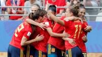 Segundo gol del partido entre EEUU y España en los primeros 10 minutos del partido.