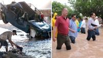 Imágenes en medios locales y redes sociales mostraban calles de diversas ciudades de México convertidas en torrentes furiosos, cubriendo y arrastrando automóvil...