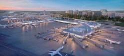 El Aeropuerto Nacional Reagan lanzó un proyecto de $ 1 mil millones que incluye dos nuevos puestos de control de seguridad y un nuevo vestíbulo. Estas represent...