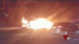 Camión accidentado causa caos en las carreteras de LI