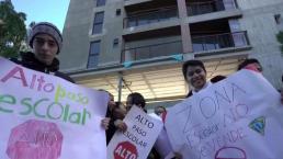 Comunidad estudiantil protesta en Tijuana