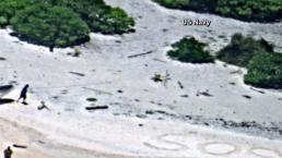 Dos náufragos fueron rescatados de isla