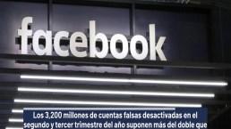 Facebook desactiva cuentas falsas