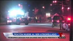 Mujer atropellada mortalmente en NJ