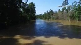 Desde el aire: captan devastacion por inundaciones