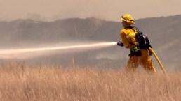 Incendio de maleza cerca de la preparatoria San Ysidro