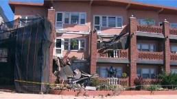 Así se derrumbaron media docena de balcones