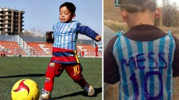 Amenazado: niño fanático de Messi huye de Afganistán