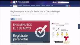 Regístrate para votar en 5 minutos