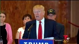 Trump otorga donaciones para veteranos