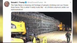 Trump: nadie se va a saltar la valla fronteriza
