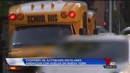 NY: Choferes de autobuses escolares amenazan con huelga