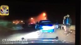Aparatoso choque en Connecticut captado en video