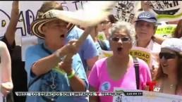 Protesta por decisión de Corte Suprema en NY
