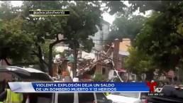 Explosión deja a un bombero muerto y varios heridos