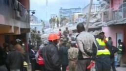 Derrumbe de edificio causa tragedia en Nairobi