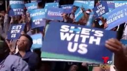 Protestas en medio de la Convención Demócrata