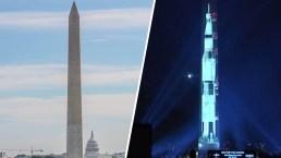 Un cohete llega a Washington DC: así luce, de cara al Capitolio