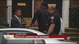 Policía resulta herido en Queens