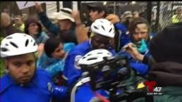 Grupo de manifestantes se torna violento en las calles de DC