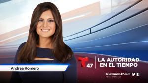 Meteoróloga Andrea Romero