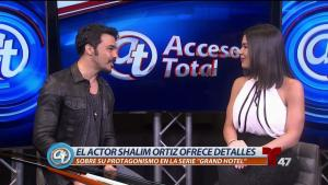 """Actor Shalim Ortiz ofrece detalles de """"Grand Hotel"""""""