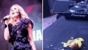 A huevazos atacaron a la cantante Marta Sánchez