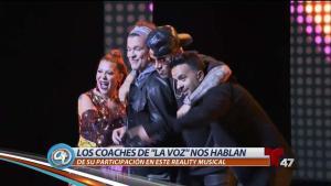 """Coaches de """"La Voz"""" juntos por primera vez"""