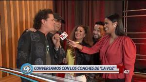 Conversamos con los divertidos coaches de 'La Voz'