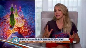 """Fanny Lu cuenta su experiencia en """"The Grinch"""""""