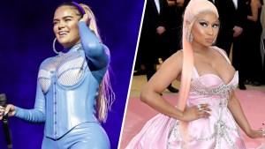 Karol G no esconde la emoción de cantar con Nicki Minaj