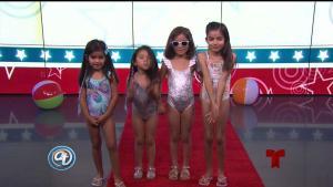 Moda infantil para la piscina