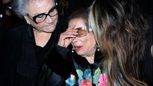 El dolor de una madre: Doña Ofelia despide en llanto a su hija Edith González