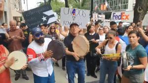 Puertorriqueños  en DC exigen la salida de Rosselló