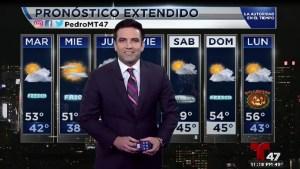 El pronóstico de tiempo con el meteorólogo Pedro Montoro.