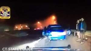 Captan en video aparatoso choque en Connecticut