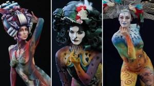 Reyes del bodypainting, lo mejor del festival donde la piel es el lienzo