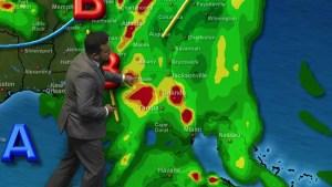 <p>Condiciones de lluvia, y niveles de humedad alta para el centro de la Florida</p>